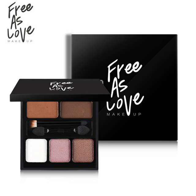 FREE AS LOVE 3Colors Eyeshadow Palette Nake Makeup Brand 2Colors Eyebrow Powder Professional Matte Shimmer Eye Shadow With Brush