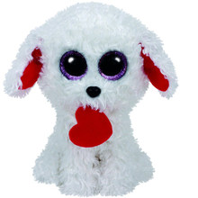 "Pyoopeo Ty Beanie Boos 10"" 25cm Honey Bun Valentine Dog with Heart Plush Medium Soft Stuffed Animal Collectible Puppy Doll Toy(China)"