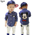 TBwish 2017 Autumn New Brand Children's Clothing Kids Boys Shirts Long Sleeve With Collar Lovely Cartoon Polka Dot Shirts