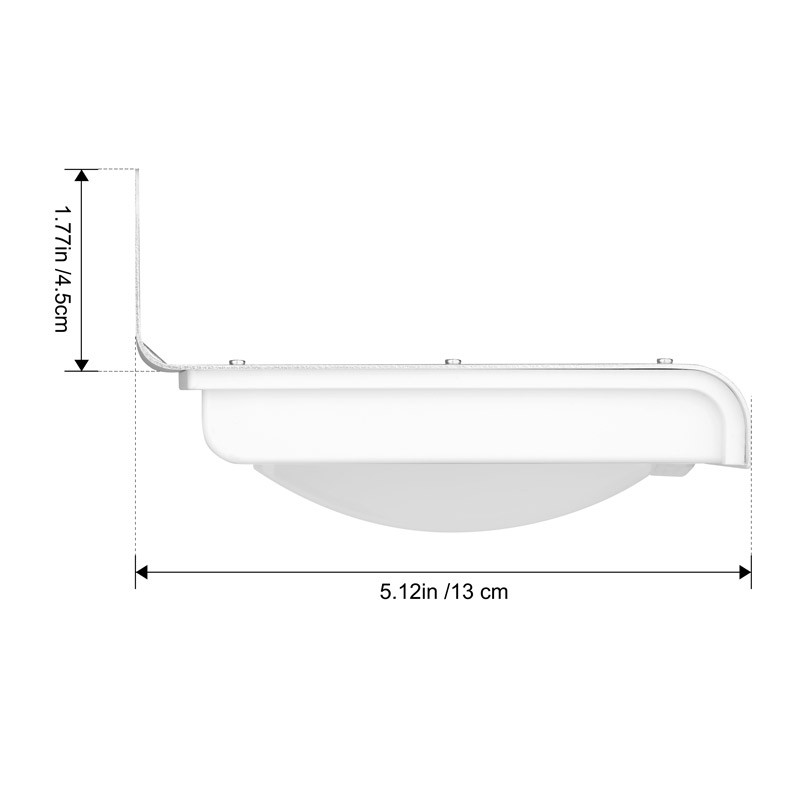 Image 2 - 2PCS 16 LEDs Outdoor Solar Motion Light Infrared Sensor Wall Lamp For Garden Security Lighting Outdoor Light-in Solar Lamps from Lights & Lighting