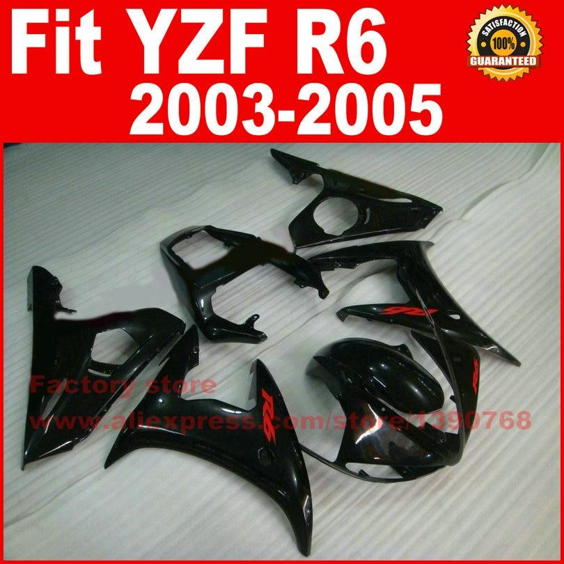 ABS plastic Motorcycle body fairings kit for YAMAHA R6 2003 2004 2005 YZF R6 03 04 05  all black fairing bodywork part for yamaha yzf 600 r6 2006 2007 yzf600r inject abs plastic motorcycle fairing kit bodywork yzfr6 06 07 yzf600r6 yzf 600r cb32