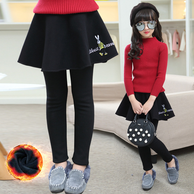 Children's Garment Winter Clothes New Product Children Cartoon Culotte Girl Child Increase Down Thickening Pants