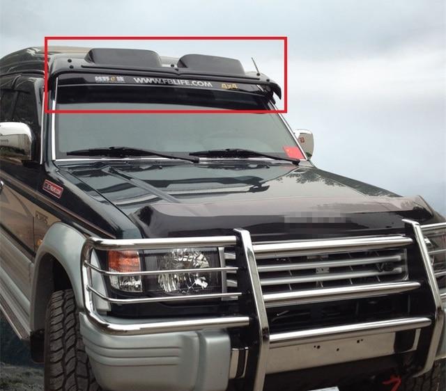 windscreen sun visor weather shdows Acrylic shields 1pcs for Toyota 3400  4500 Mitsubishi Pajero V31V32V33 084056e7633