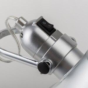 Image 5 - Artpad Relatiegeschenk Fashion Design Led Werk Lamp Voor Desktop Aluminium E27 Flexibele Verstelbare Oogzorg Studie Tafellamp Zilver