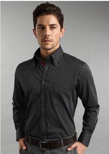 Men New England Style man Fashion Cotton Long Sleeve Shirts Business stripe Shirt Plus size XXXL XXXXL 5XL Free