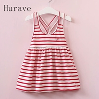 2017 Children Girls Summer Dress Classic Stripe Teens Girls Dress Kids Dresses For Girls Vest Dress