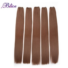 Blice Synthetic Hair Extensions 5 Pieces/Lot 26 Inch #30 Yaki Straight