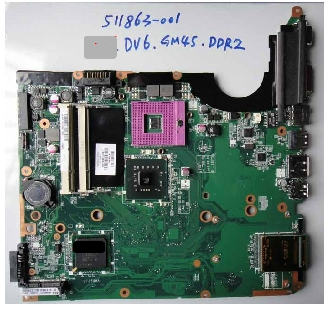 511863-001 lap connect board connect with motherboard dv6 GM45 full test lap case connect board цена