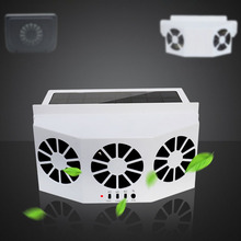 ABS Car Fan Ventilation Solar Car Auto Exhaust Fan Radiator Powered By 2AA*1200MAH цена