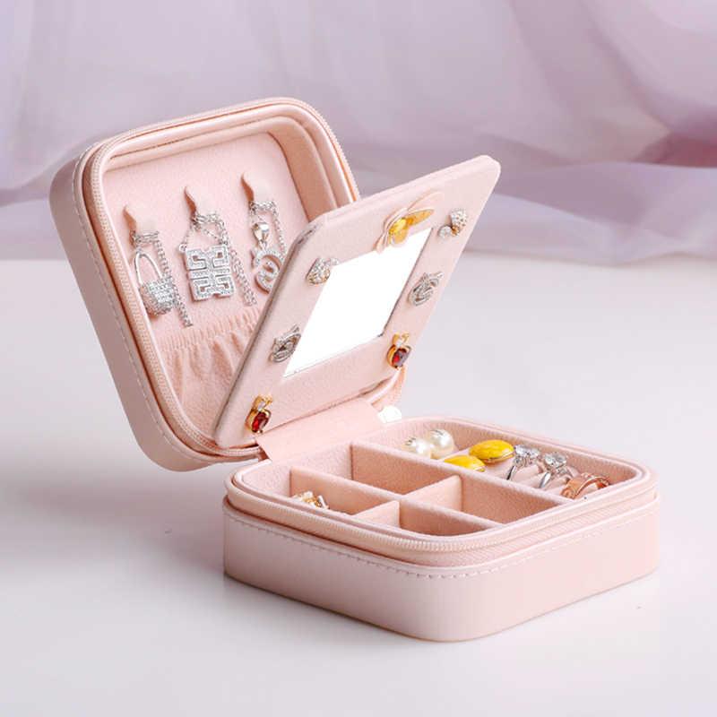 Tour Eiffel double couche boîte à bijoux montre boîte Grils Portable bijoux boîte de rangement anneaux Bracelet boîte cadeau de mariage