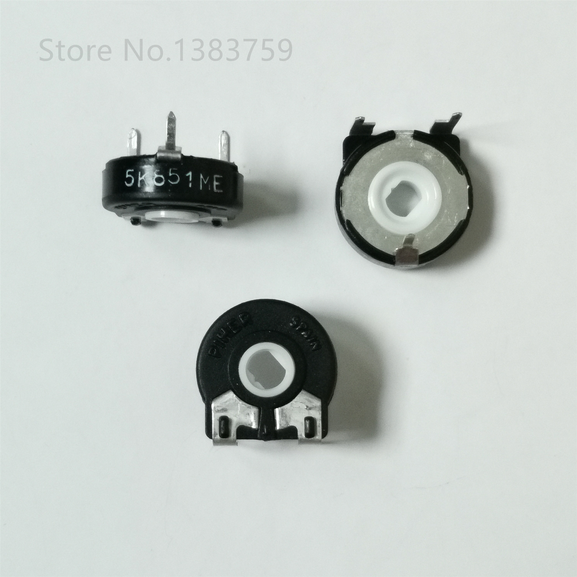 5pcs potenciômetro PT15-1K 5 k 10 k 20 k 50 k 100 k resistor ajustável horizontal