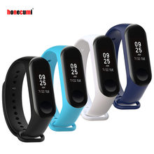 Honecumi 4 Pack Bracelet For Mi Band 3 Strap Sport Silicone Watch Wrist Band For Xiaomi Mi Band 3 Correa Smart Band Accessories(China)