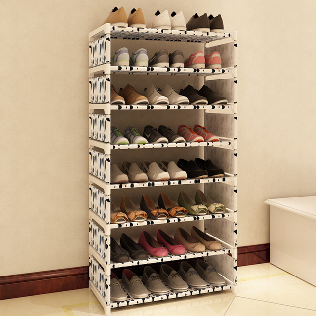 New 7 Tiers Shoe Cabinet Shoes Rack Save Space Storage Large Capacity Home  Furniture DIY Storage