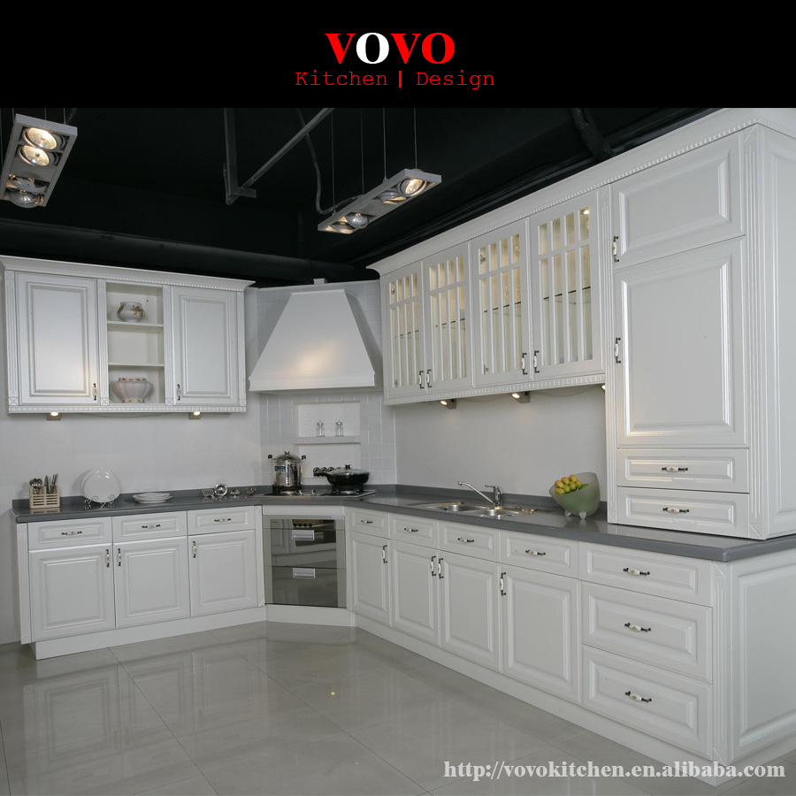 Plywood Board White Lacquer Door Panel Kitchen Cabinet Design