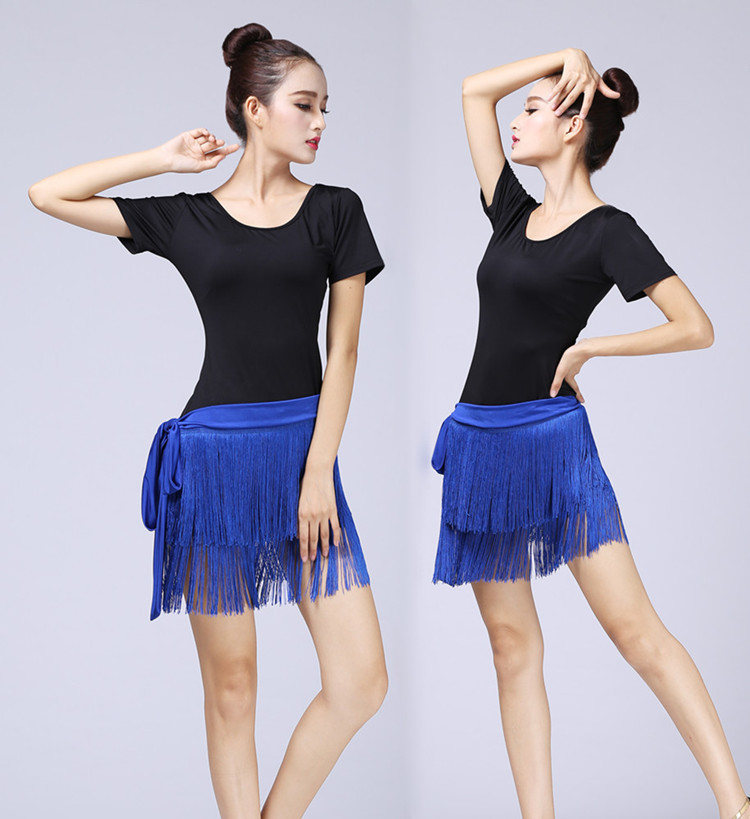 Girls Latin Dance Performances Tassel Skirt Adult Children Practise Dance Skirt Dance Fringe Skirt Latin Ballroom Costume