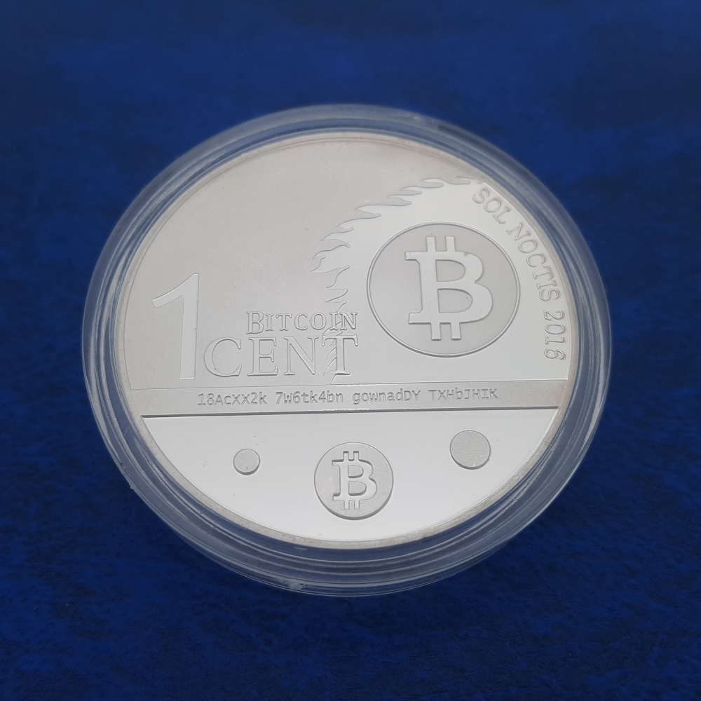 One Bitcent BTC Eagle Coins Money Dollar Bald America Coin Collection Medal Souvenir Badge Coins Money Anniversary