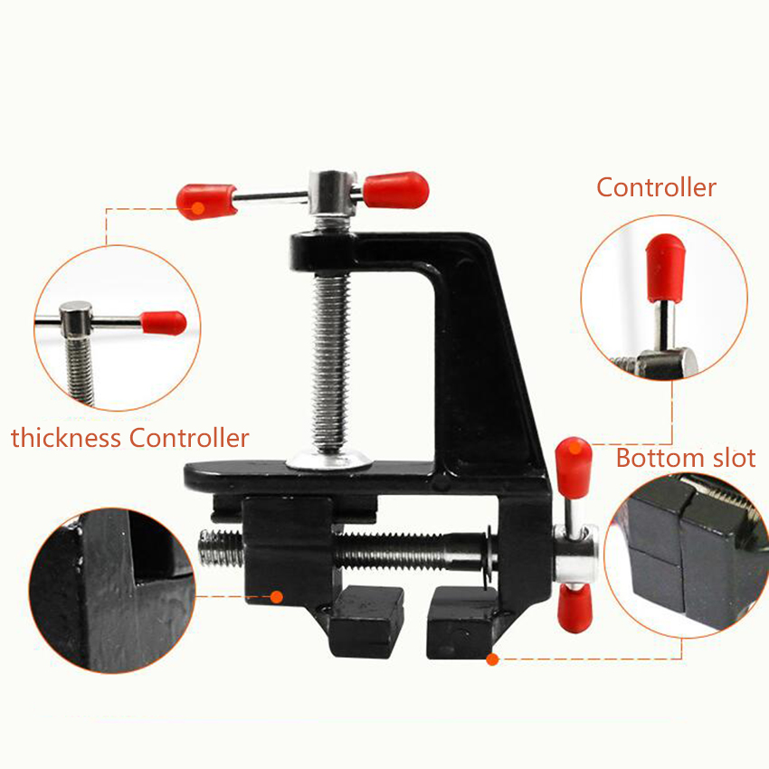 2018 Hot 36mm Mini Table Vise Aluminum Alloy Bench Vice Swivel Small Jewelers Lock Clamp Craft Hobby Table Vice Tool