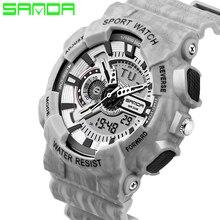 SANDA Men Sport Watches 2017  Military Watch Dual Display Relogios Masculinos Digital Silicone Band Waterproof