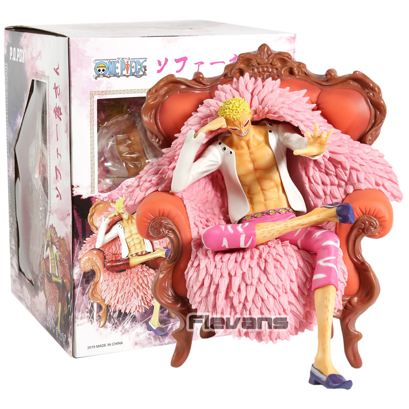 Toys & Hobbies One Piece P.o.p Dx Donquixote Doflamingo Action Figure Sitting On Sofa Anime Pvc Collectible Model Toy Decoration Doll