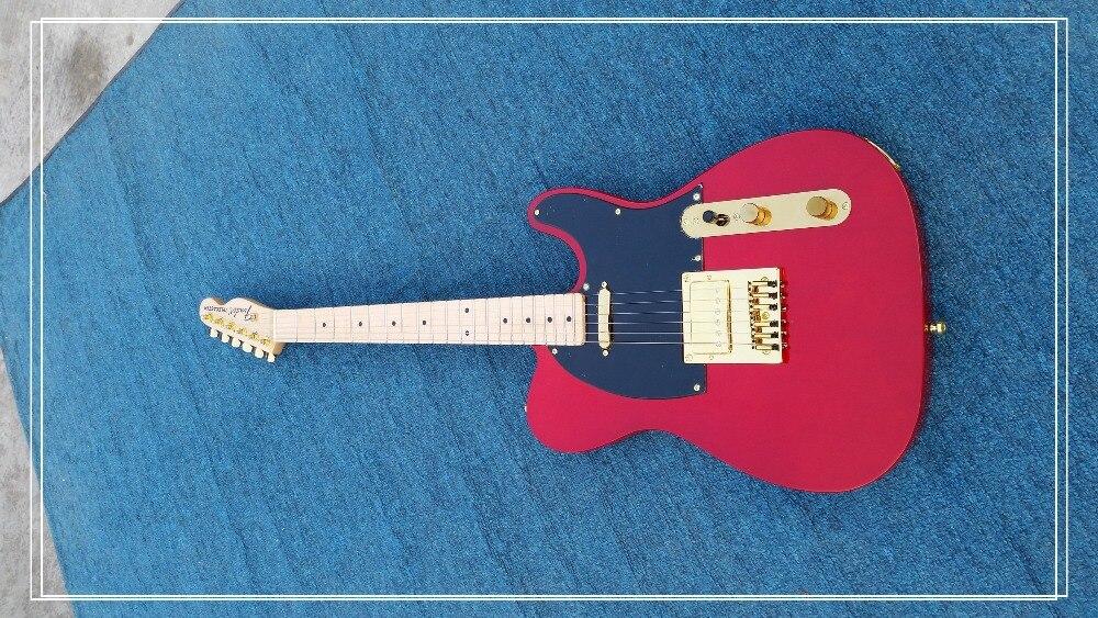 Érable bois touche chine personnalisé magasin fait guitare électrique livraison gratuite haute qualité 22 fret couleur rouge