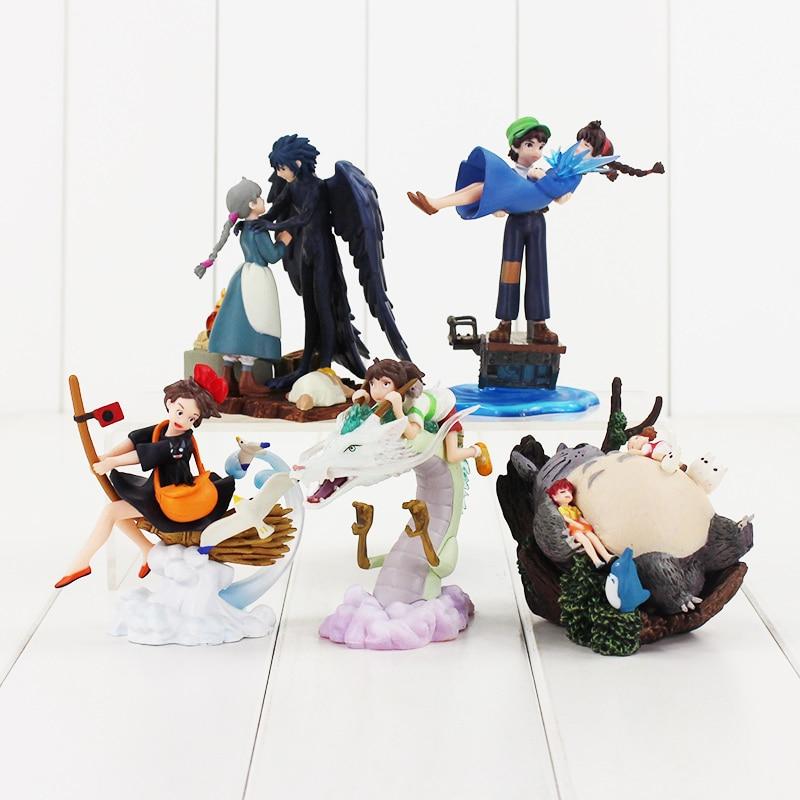 2pcs Studio Ghibli Howl/'s Moving Castle Figure Kabu Scarecrow Toy Home Decor