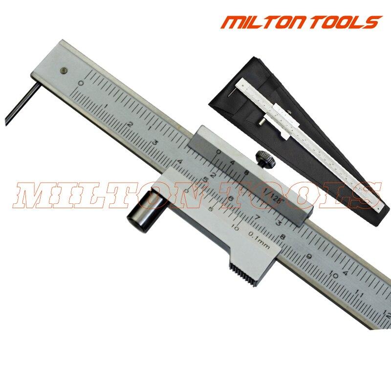 0-200mm 0 0 0-300 milímetros-400 milímetros-500mm Aço Inoxidável Paralelo Marcação vernier Caliper Com Carboneto De Riscador Ferramenta Medidor de Marcação