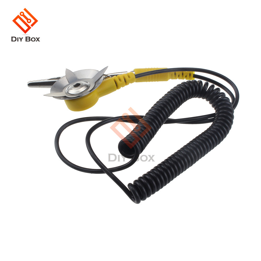 5 PCS Anti-Static Coil Cable Anti Static ESD Mats Grounding Point Cord NEW