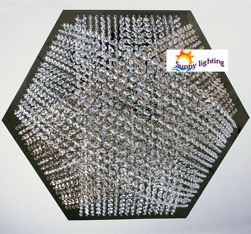 surface Hexagon Full crystal Led ceiling lights with G4 Led bulbs Bar - Indoor Lighting - Photo 2