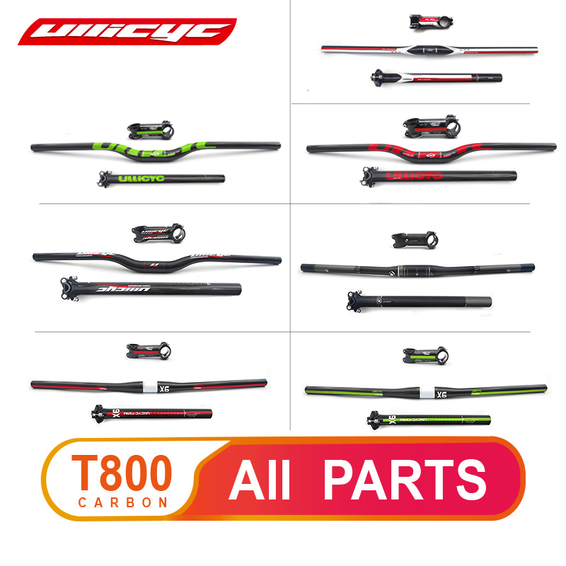 Fast Shipping Sale Hot New Ullicyc Carbon Handlebar Set Mtb Bike Handlebar Seatpost Stem Bike Parts