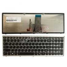 لوحة مفاتيح كمبيوتر محمول جديد لينوفو IdeaPad G500S G505S G510S S500 Z510 فليكس 15 Z505 تخطيط لوحة المفاتيح الأمريكية مع الخلفية