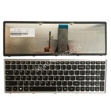Lenovo IdeaPad G500S G505S G510S S500 Z510 Flex 15 Z505 키보드 용 새 노트북 키보드 백라이트가있는 미국 레이아웃