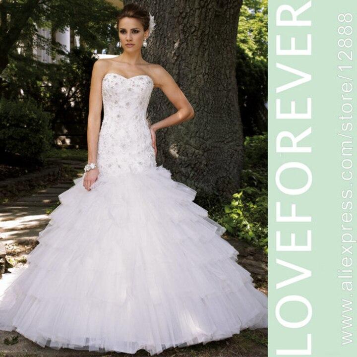 white organza and lace long train puffy grecian dress women wedding designer 2016china