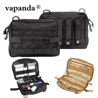 Vapanda Tactical Molle Pouch Nylon Black Tactical Pouch Large Magazine Organizer Utility Phone Medic Belt Bag