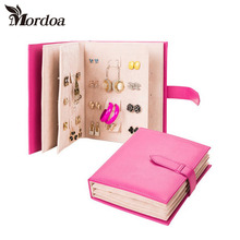 Free shipping 2016 Mordoa Exquisite Earings Book Display Rack Princess Earings Holder Organizer Gift Jewelry book