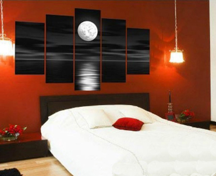 3 Color Modern Abstract Night Moon Oil Painting Hand Painted Canvas Painting  Home Decor Wall Art Canvas Picture Unframe In Painting U0026 Calligraphy From  Home ...
