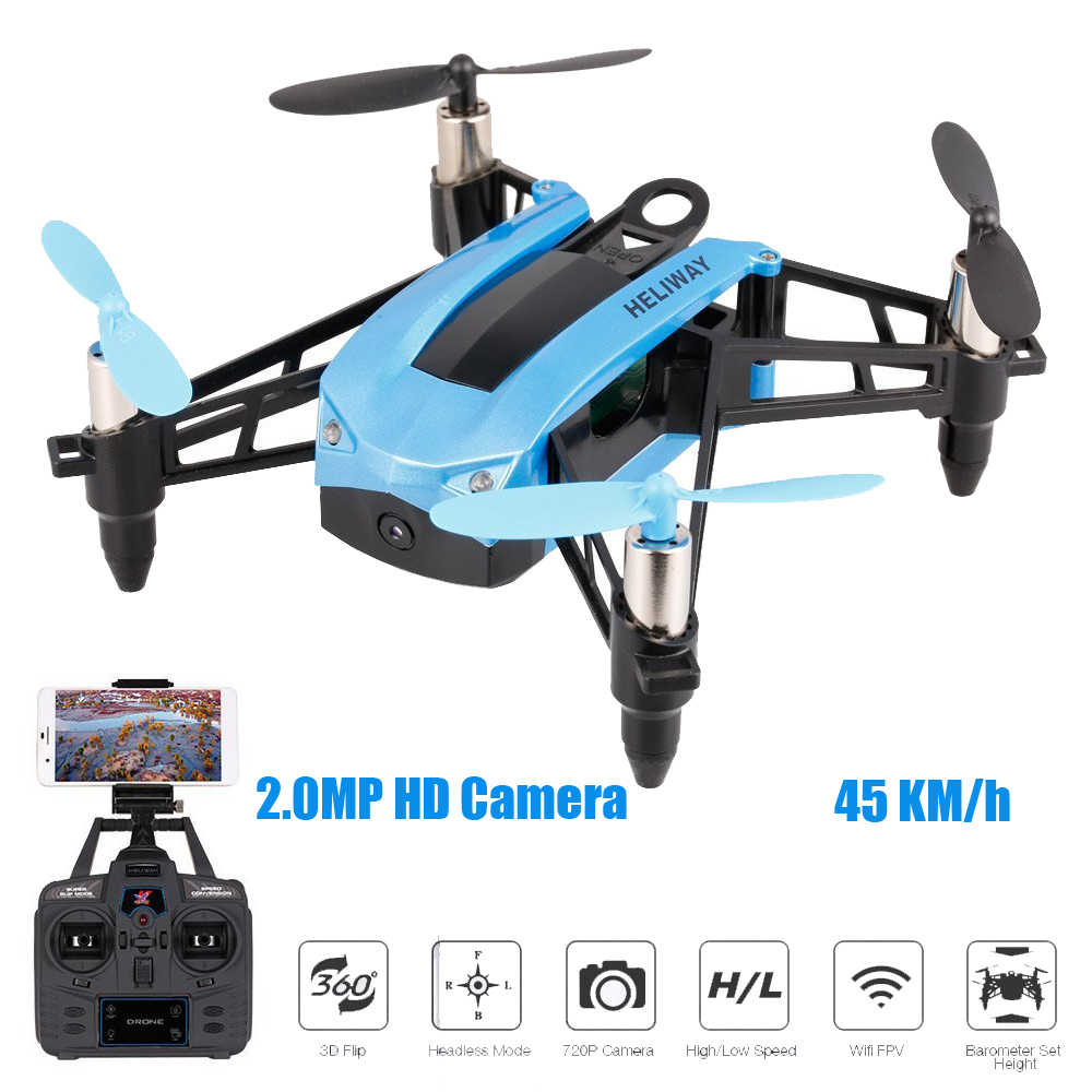 HELIWAY 903HS 2.4 Ghz の高速 Selfie ドローンレース Quadcopter WIFI FPV 720 1080P 2.0MP HD カメラの高さを保持グラムセンサー RC Quadcopter