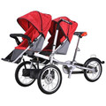2017 Baby Twins and Mother Bike Folding Trolley 3 wheel Baby Boy Girls Stroller Pushchair Kids  Strollers 3 in 1 Pram Twins