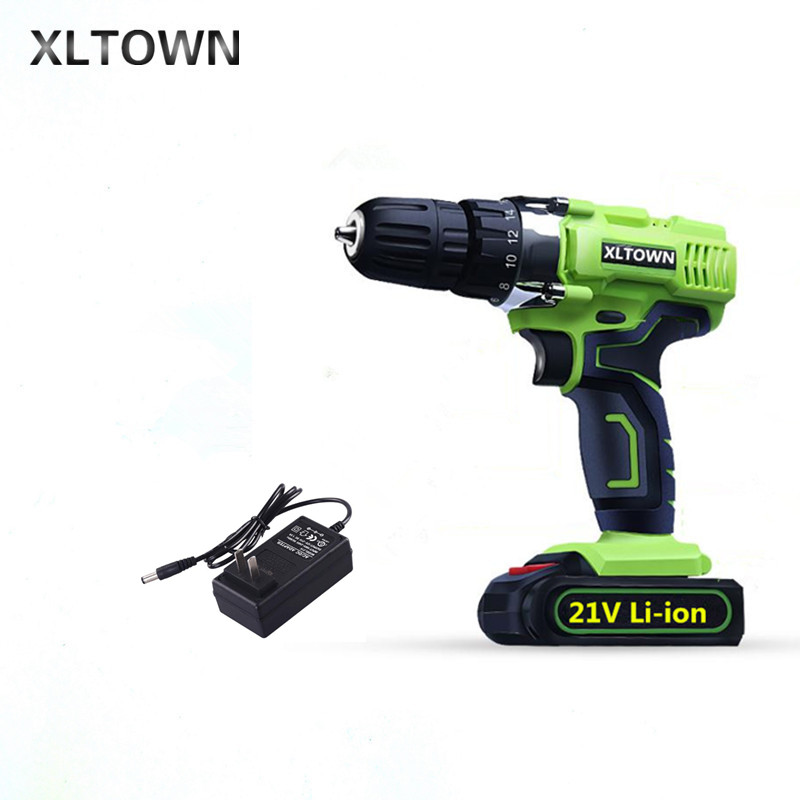 XLTOWN 21V electric screwdriver rechargeable lithium battery electric screwdriver multi-function household cordless drill Tools