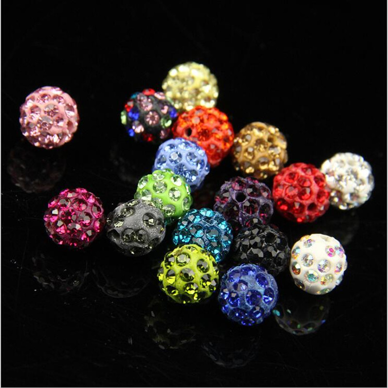 50pcs 10mm 33colors Shamballa Beads Crystal Disco Ball Beads Shambhala Spacer Beads Shamballa Bracelet Crystal Clay Beads 100% High Quality Materials Beads Jewelry & Accessories