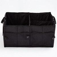 Car Waterproof Foldable Black Car Boot Organizer Storage Bag Protable Auto Storage Box Multi Use Tools