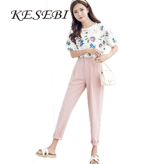 Harem Pants Women 2018 Spring Korean Female Classic High Elastic Waist Fashion Slim Solid Color Ankle-length Pants J2FE220#8220