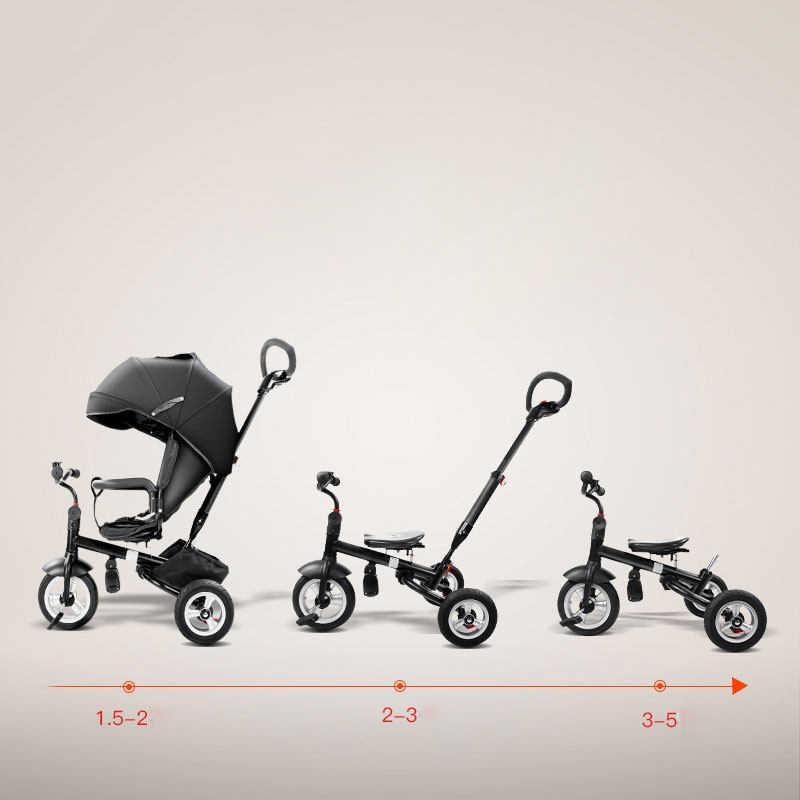 7.8 เด็กสามล้อรถเข็นเด็กจักรยานพับและปฏิบัติ Pram เด็กคุณภาพสูงสำหรับเด็ก