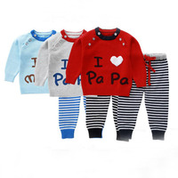 I Love PaPa Baby Girls Baby Boy Clothing Set Spring Autumn 6 Buttons Sweater Suit Newborn Infant Girl Button Sweaters 9 24Months