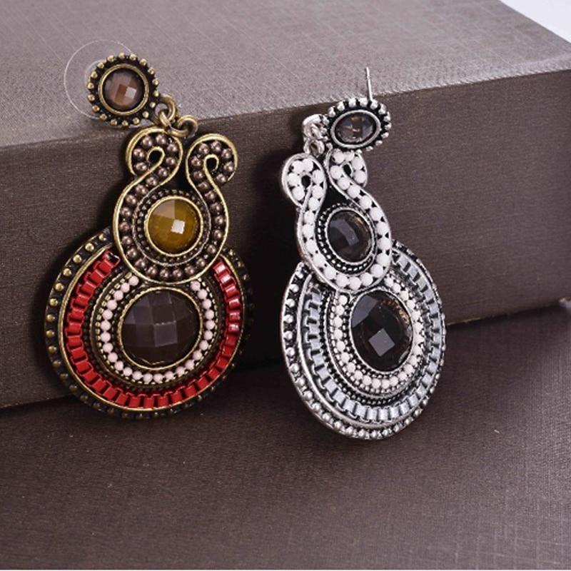Fashion Woman Earrings 2019 Resin Beaded  Earrings Antique Style Party Jewelry Female Long Dangle Statement Earrings Bijoux