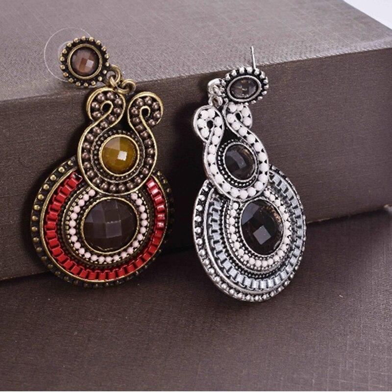 Pendientes de mujer de moda 2019 pendientes de resina con cuentas de estilo antiguo para fiesta joyería femenina largos pendientes de declaración bijoux