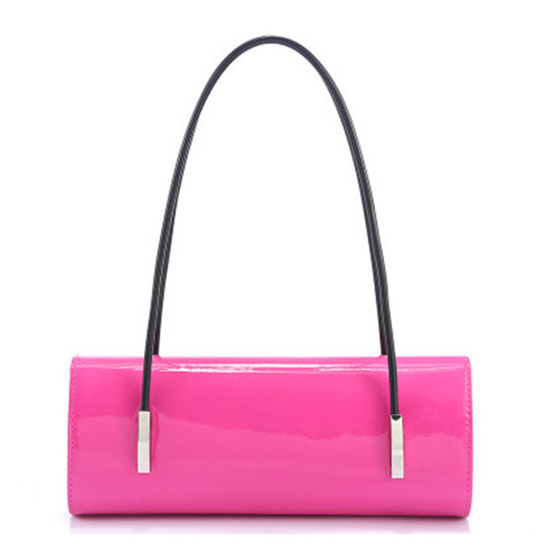 Quality PU Leather Evening Bag 2017 New Candy Color Lady Handbags For Party Elegant Shoulder Bags Wrist Bag With Hasp For Women