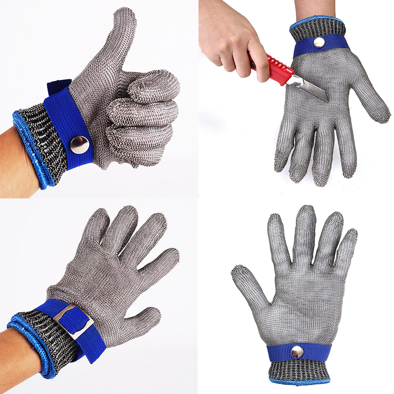 Safety Cut Proof Stab <font><b>Resistant</b></font> Stainless Steel Metal Mesh Butcher Working Protective <font><b>Gloves</b></font>