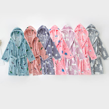 Soft Winter Pencils Printed Robe for Boys and Girls