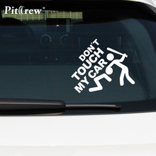 """1PC 14*12cm 2016 Safety Warning Vinyl Car stickers"""" DO NOT TOUCH MY CAR """" Car Styling car motorcycles decal styling accessories"""