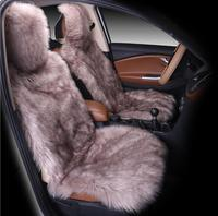Sheepskin Car Seat Covers Universal Size High Quality Faux Fur Fur Front Car Seat Auto Interior Accessories 5 Color